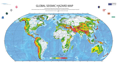 GSHA strong earthquake hazard map